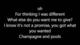 Repeat youtube video Hoodie Allen   Champagne and Pools (Feat. blackbear & KYLE) Lyric's
