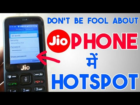 How to turn on hotspot in jio phone 1500