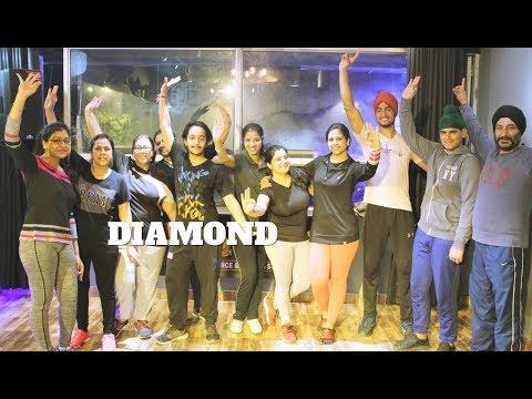 Diamond (Full HD)   Gurnam Bhullar  Easy Basic Bhangra steps THE DANCE MAFIA