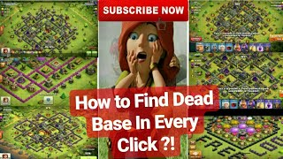 Clash Of Clans / How To Find Dead Base In Every Click ?! / Easy Way To Find Dead Base👍 / Trick-1