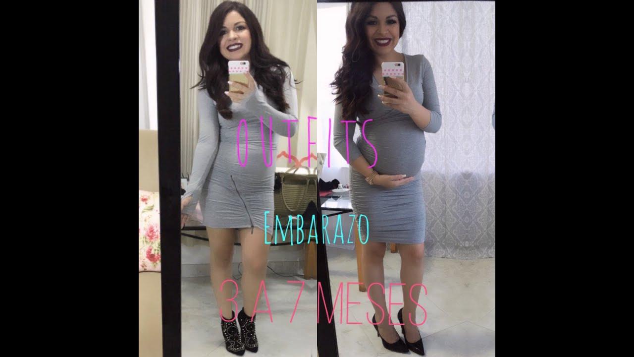 Mis outfits de embarazo 3 7 meses fashion mami youtube - 8 meses de embarazo ...
