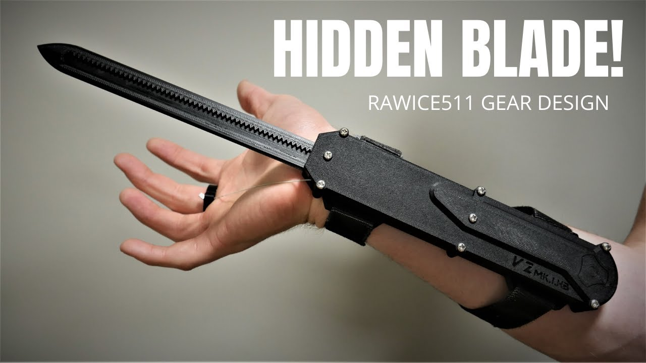 Real Metal Assassin S Creed Dual Action Hidden Blade Youtube