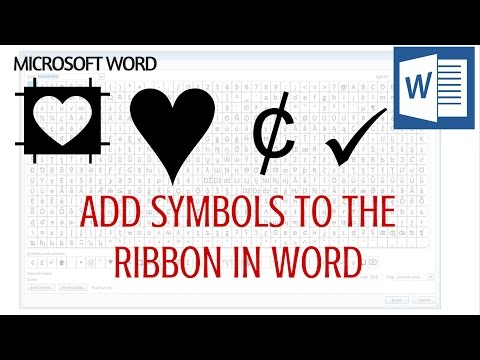 Microsoft Word - Add Symbols to the Ribbon - One click to insert a symbol