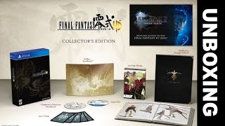 Final Fantasy Type-0 HD Collector's Edition UNBOXING - PS4