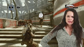Raging Woman on Gears of War 3!
