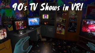 Watching 90's TV in my DREAM VR 90's Bedroom! EMUVR on the Oculus Quest!