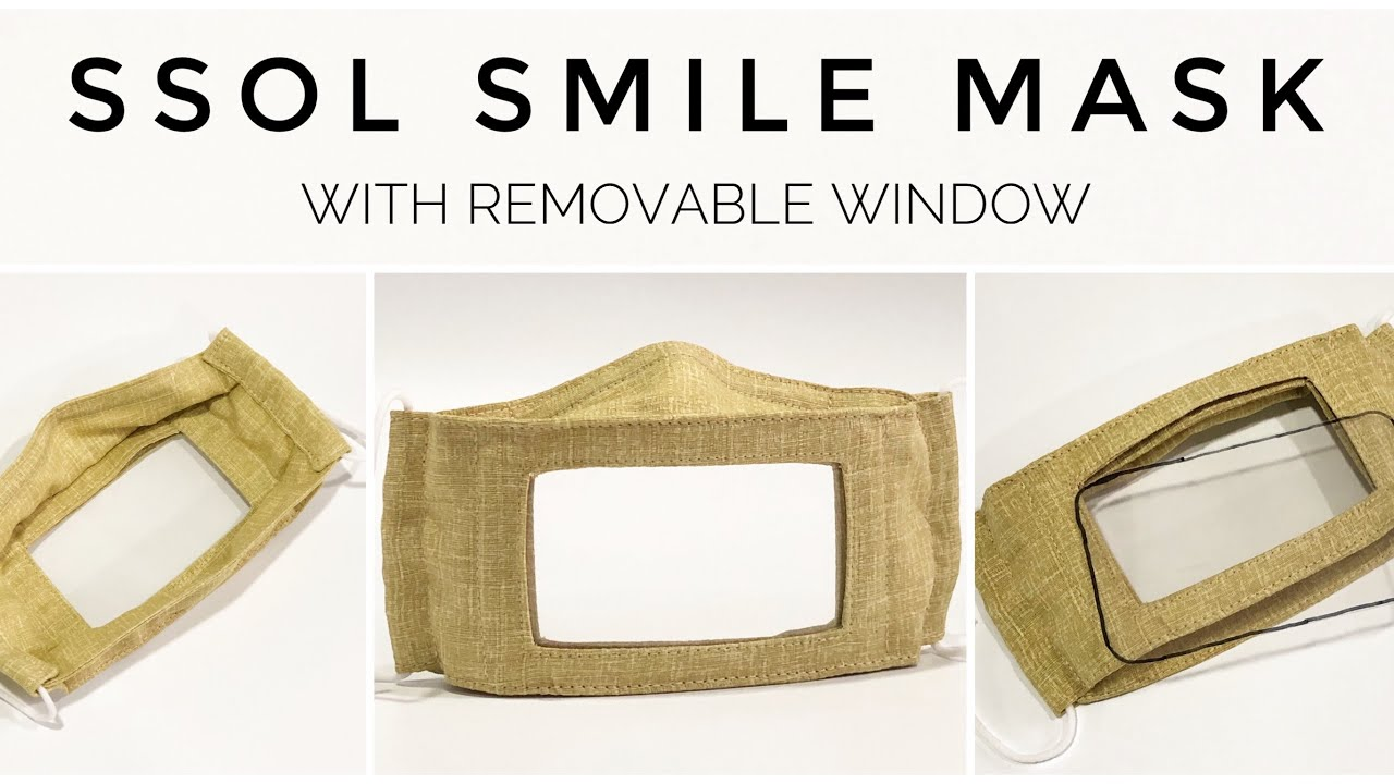 #SSOLSMILEMASKS | How to make a clear mask with a removable window | for deaf community