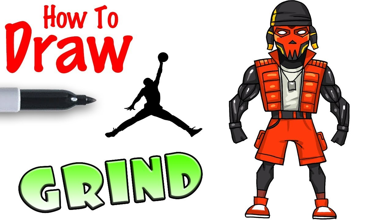 How to Draw Grind   Fortnite - YouTube