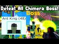 Defeat All Chimera Boss Ant King Story Mode!  - All Star Tower Defense Roblox