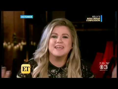 Kelly Clarkson on ET talking about weight 10/24/2017