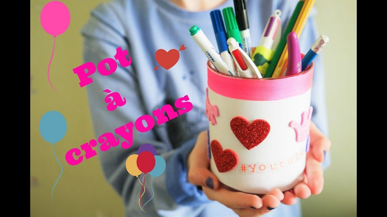comment faire un pot a crayons personnalis youtube. Black Bedroom Furniture Sets. Home Design Ideas