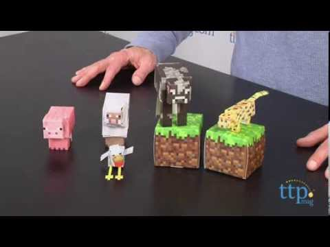 Minecraft Papercraft Overworld Animal Mobs From Jazwares YouTube