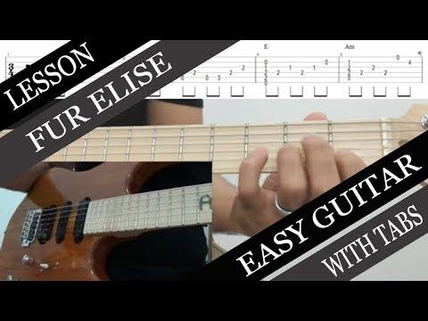 Fur Elise - Easy Solo Guitar (Chord Melody) Tutorial - YouTube