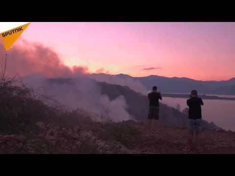 Les feux de forêt font rage au Monténégro