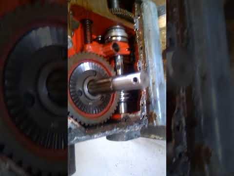 Вскрытие коробки подач сверлильного станка 2А125 ч 2