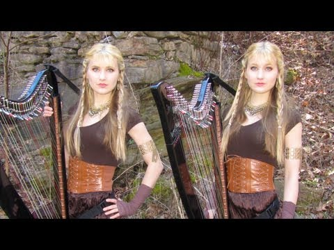 The Rains of Castamere: Game of Thrones (Lannister Song) Harp Twins - Camille and Kennerly