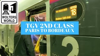 Taking the 2nd Class TGV Train from Paris to Bordeaux