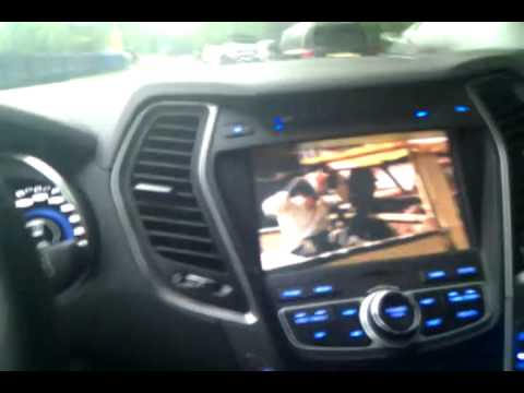 SantaFe DM DVD playback while driving