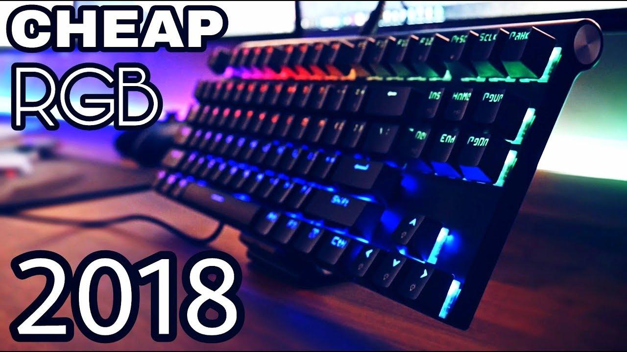 a30d1979ffa CHEAP RGB Mechanical keyboard 2018! - Motospeed CK101 - YouTube