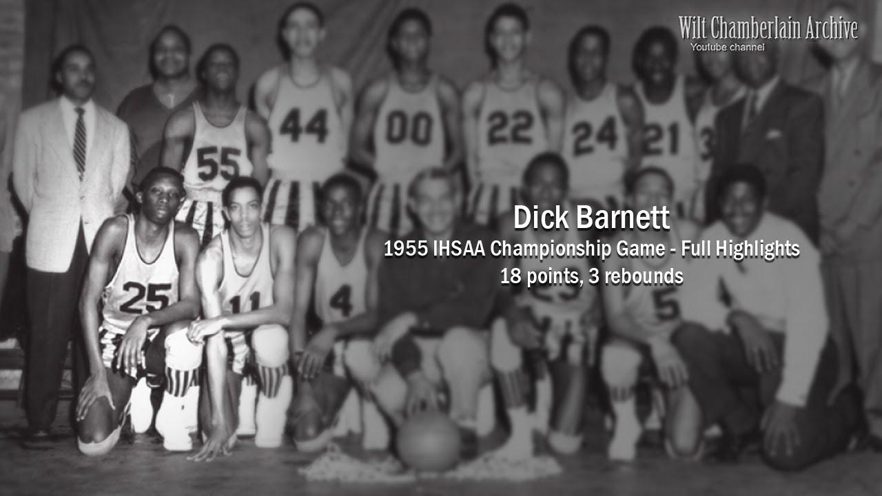 Dick Barnett 18pts 3reb 1955 IHSAA Championship Full