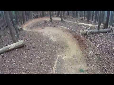 Downhill run at big creek mountain bike trails