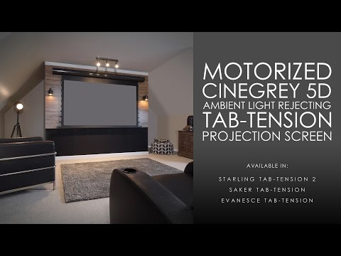 CineGrey 5D Ambient Light Rejecting, Tab-Tension Motorized Projection Screen