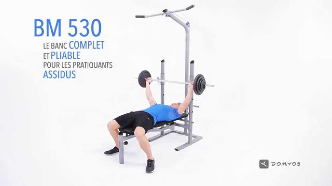 Domyos Bm 530 Weight Bench Youtube