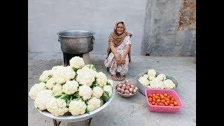 Cauliflower Masala Curry prepared by my Granny | Veg village food | Village Life | recipe