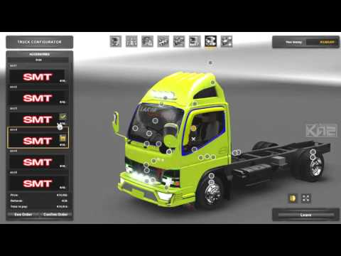 ETS2 MOD INDO -- Review Mod Canter v3 by Rianz SMT - 동영상