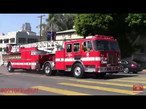 LAFD Truck 92 (reserve) Using PA System while Responding
