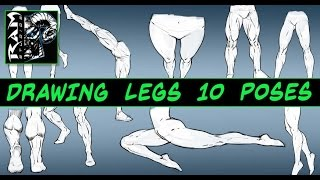 Drawing Leg Studies - Male and Female - 10 Different Poses