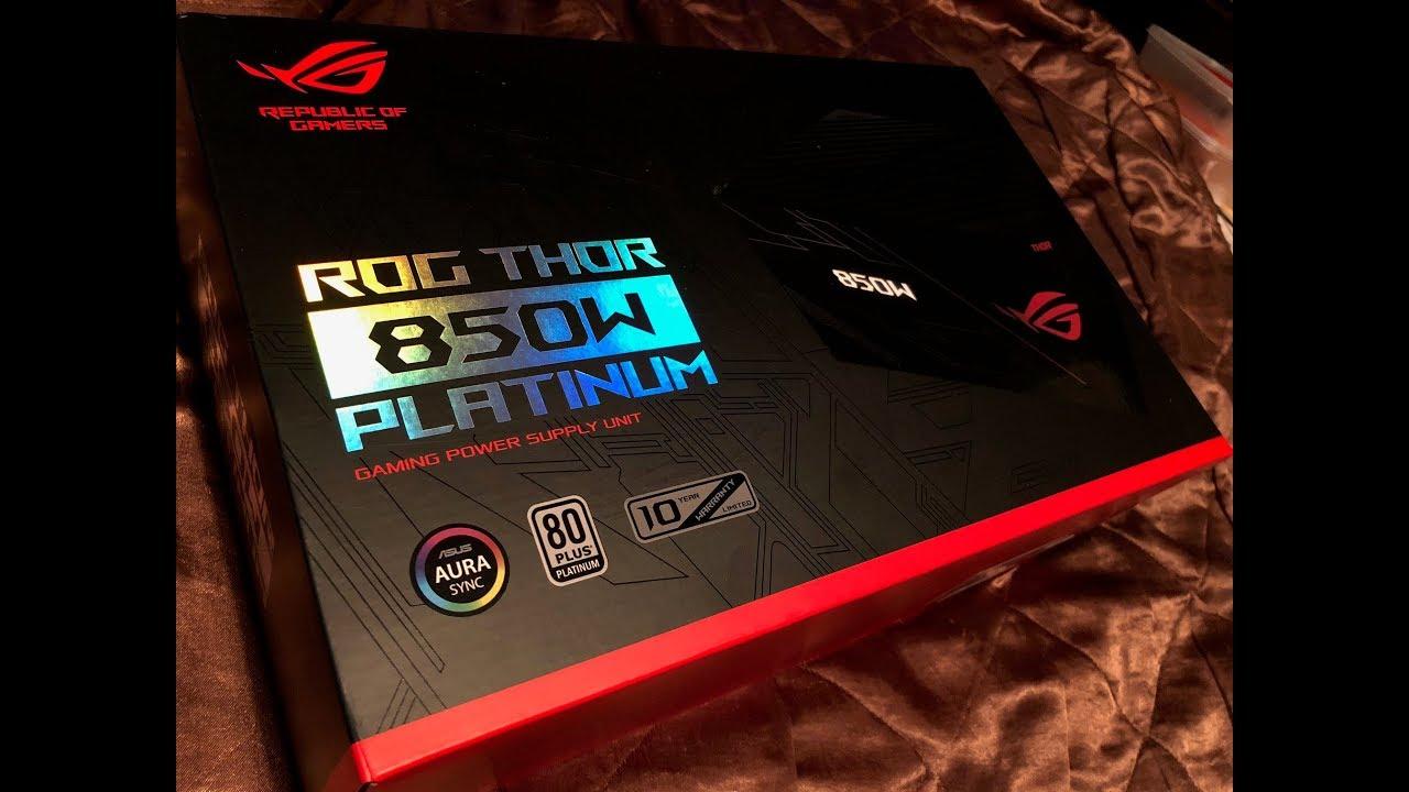 ASUS ROG Thor 850P PSU - 850W, 80Plus Platium, Full Modular, Sleeve