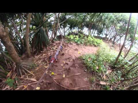 Hiking to Hideaways Beach. Kauai, Hawaii