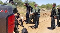 Honduran Nationals Crossing The Border Through Arivaca Arizona