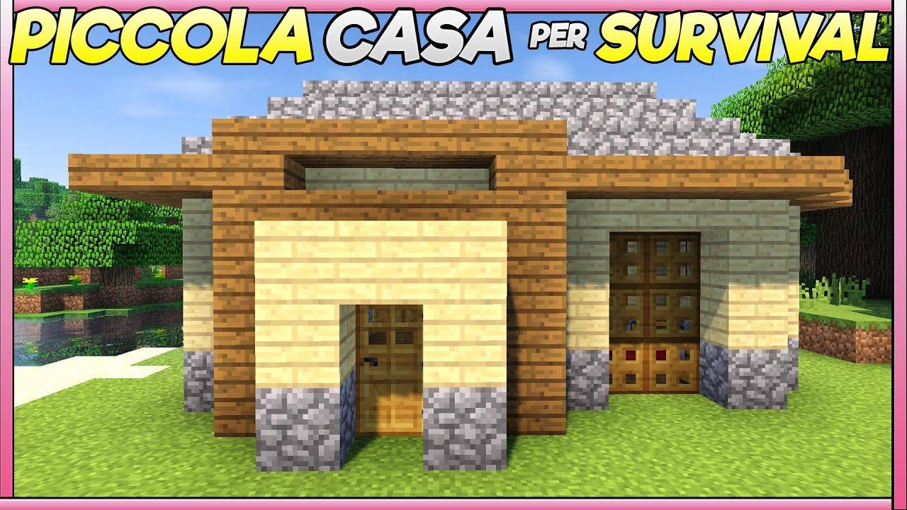 Lastra Di Legno Minecraft : Come costruire una piccola casa per il survival su minecraft