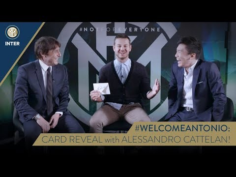 #WELCOMEANTONIO | CARD REVEAL with Antonio Conte, Steven Zhang and Alessandro Cattelan! ?⚫?