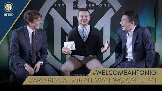 #WELCOMEANTONIO | CARD REVEAL with Antonio Conte, Steven Zhang and Alessandro Cattelan! 😁⚫🔵