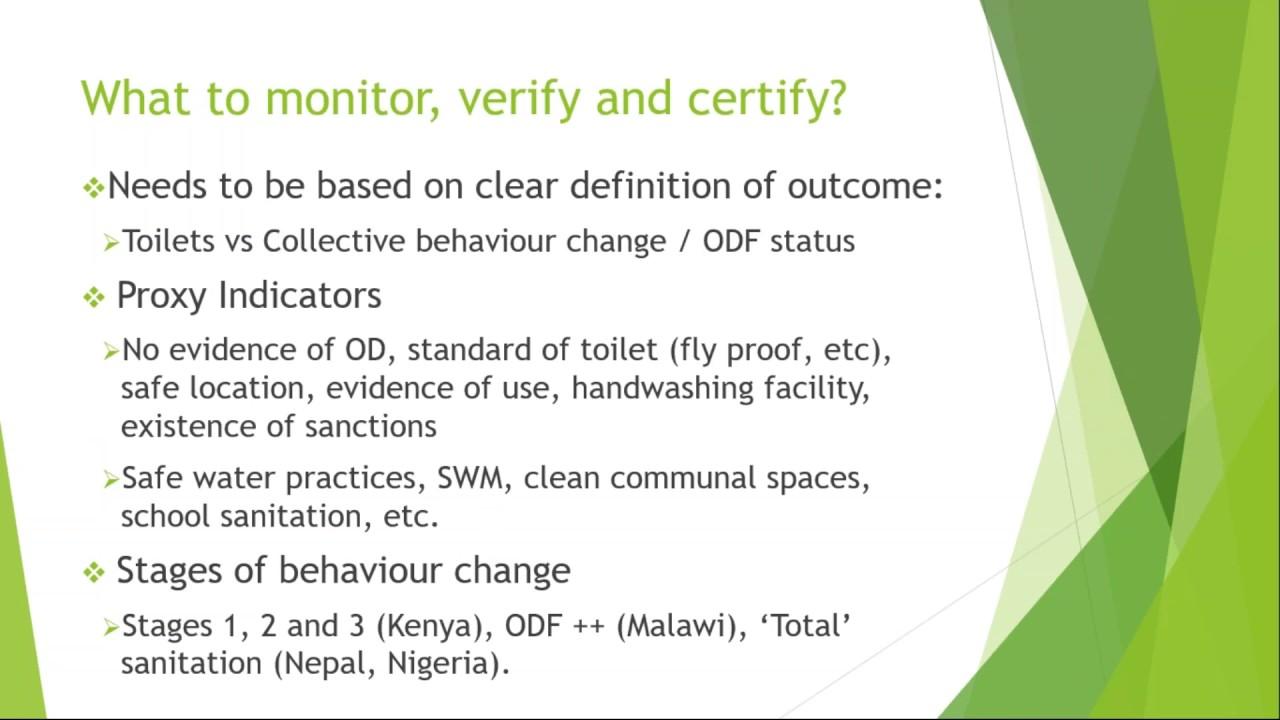 Tracking Progress And Sustainability Monitoring Verification And