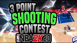 NBA 2K20- 3 POINT SHOOTING CONTEST MYCAREER || HOW TO ALWAYS WIN!!!