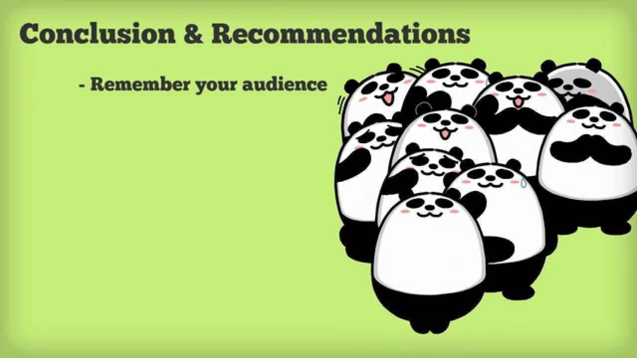 Conclusions and Recommendations   Changing the Conversation     SlideShare