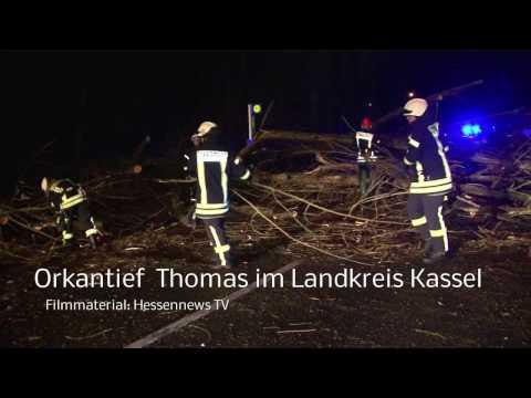 """Orkantief """"Thomas"""" in der Region: Bäume stürzten auf Autos"""