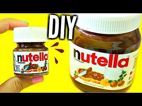 DIY MINI NUTELLA | Easy & Adorable