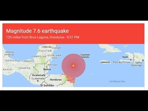7.6 Earth Quake sparks Tsunamis Warning for Puerto Rico + possible Florida low pressure system