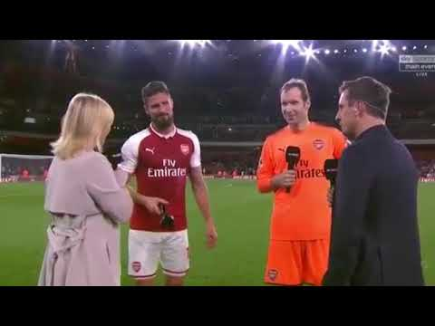 Arsenal vs Leicester City 4-3 oliver Giroud post match interview