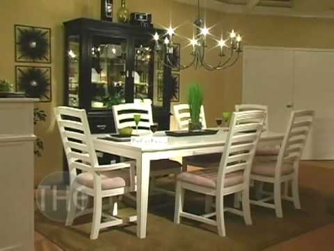 Rubber Wood Solid Dining Room Set In Distressed Black From Ashton Collection By Klaussner