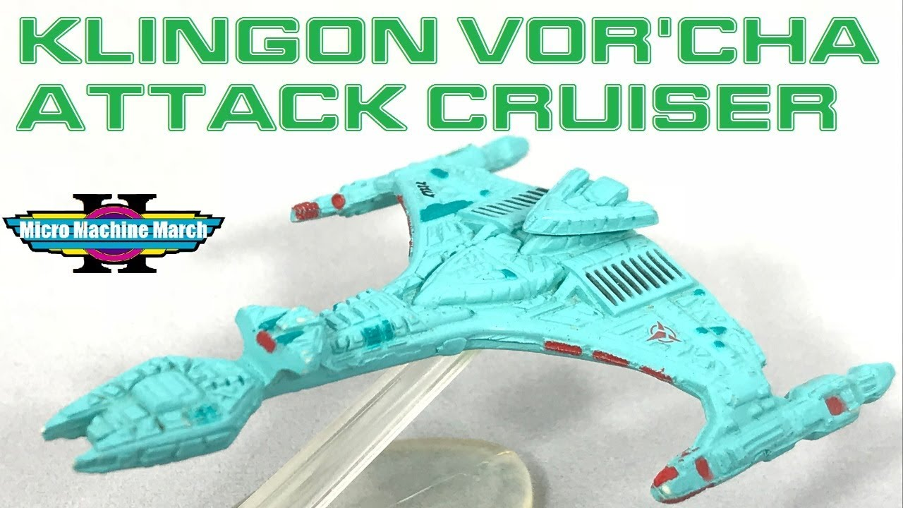 STAR TREK MICRO MACHINES KLINGON VOR/'CHA ATTACK CRUISER