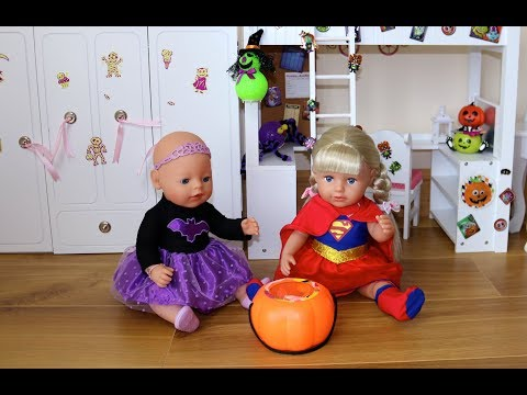Thumbnail: Baby Dolls Bedroom Wardrobe Bunk Bed Halloween Decoration and Baby Born Halloween Costume Dress up
