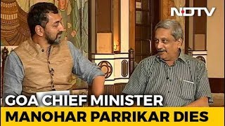 What Manohar Parrikar Told NDTV After Becoming Goa Chief Minister In 2017