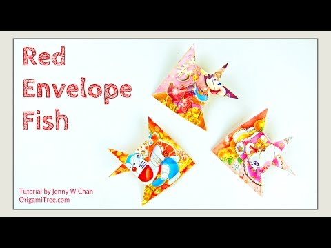 Chinese New Year Crafts: RED ENVELOPE FISH 紅包魚 - Easy Paper Crafts Tutorial