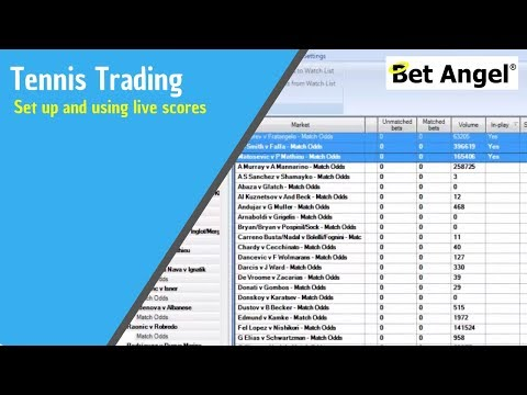 Betfair trading - Setting up and using live Tennis scores ...